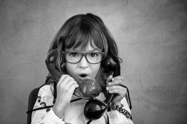 blog cover image. Child on the phone